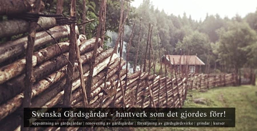 Svenska Gärdsgårdar - hantverk som det gjordes förr