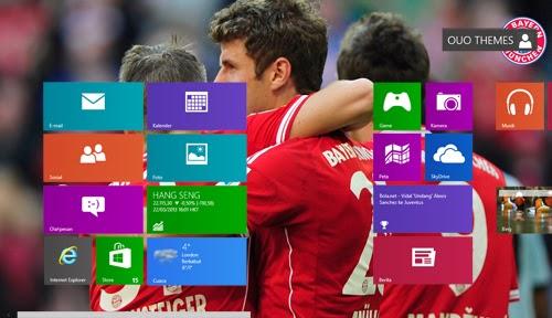 2013/2014 Fc Bayern Munchen Theme For Windows 7 And 8 8.1