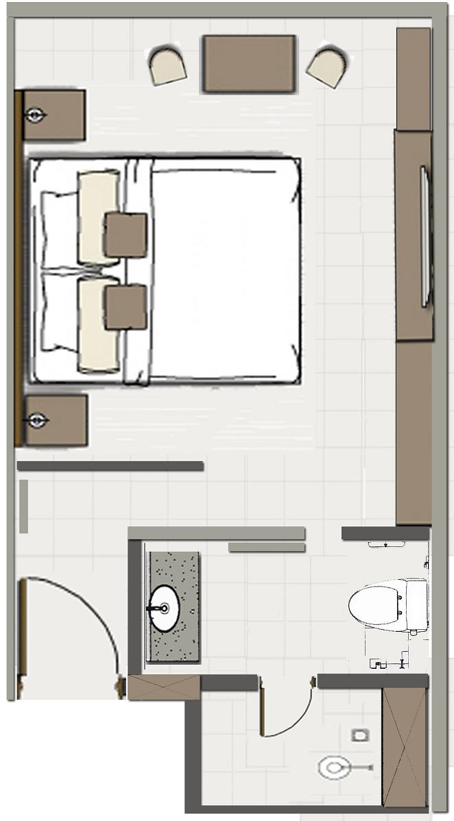 Hotel room plans layouts interiors blog for Hotel design layout