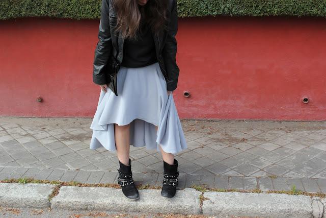 Blog de costura. Como hacer y coser una falda asimetrica DIY