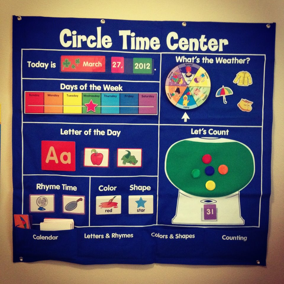 Circle Time Calendar Printables : The crafty things in life starting preschool at home