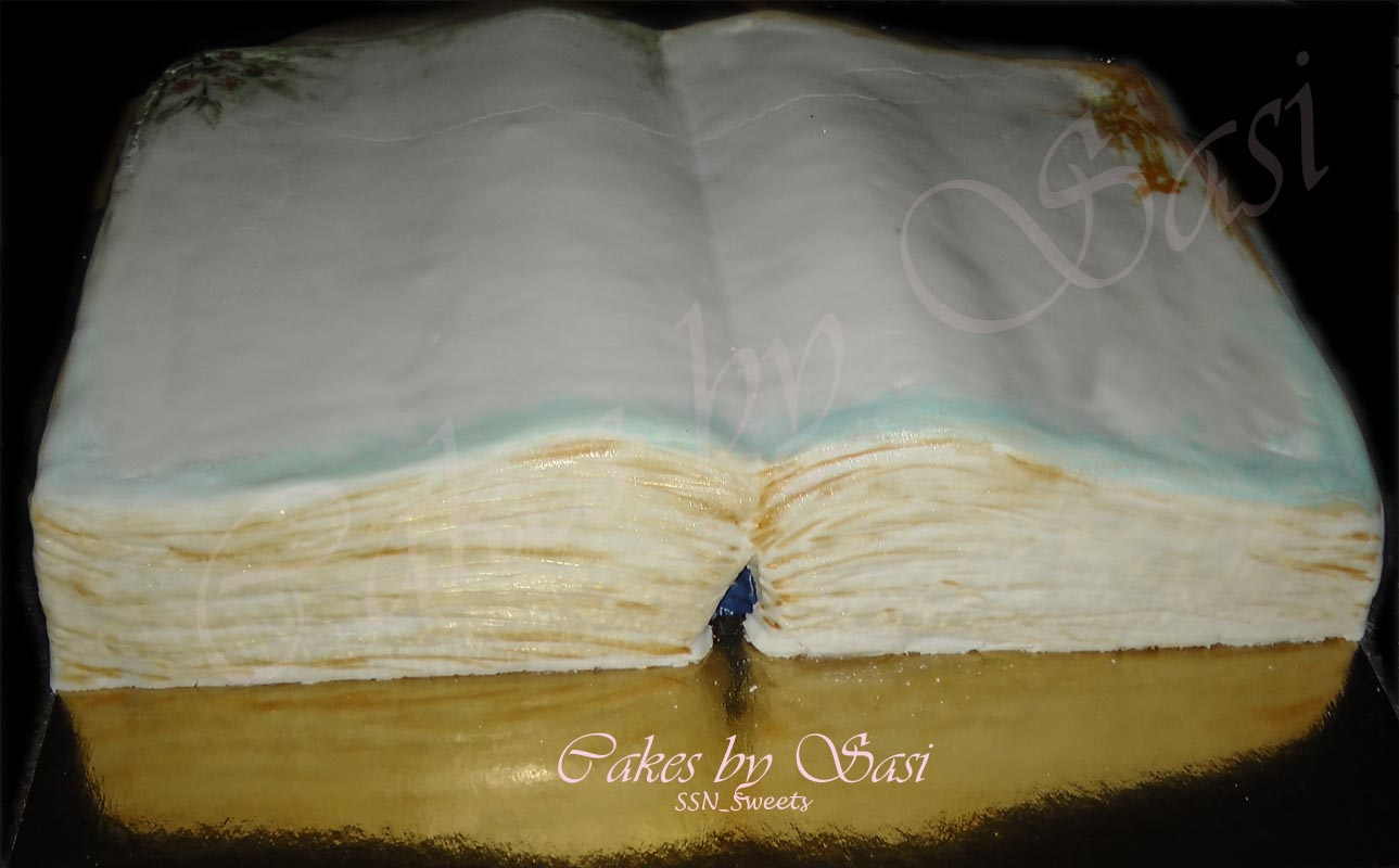 How To Make A Book Cake : My creations so far tutorial how to make an open