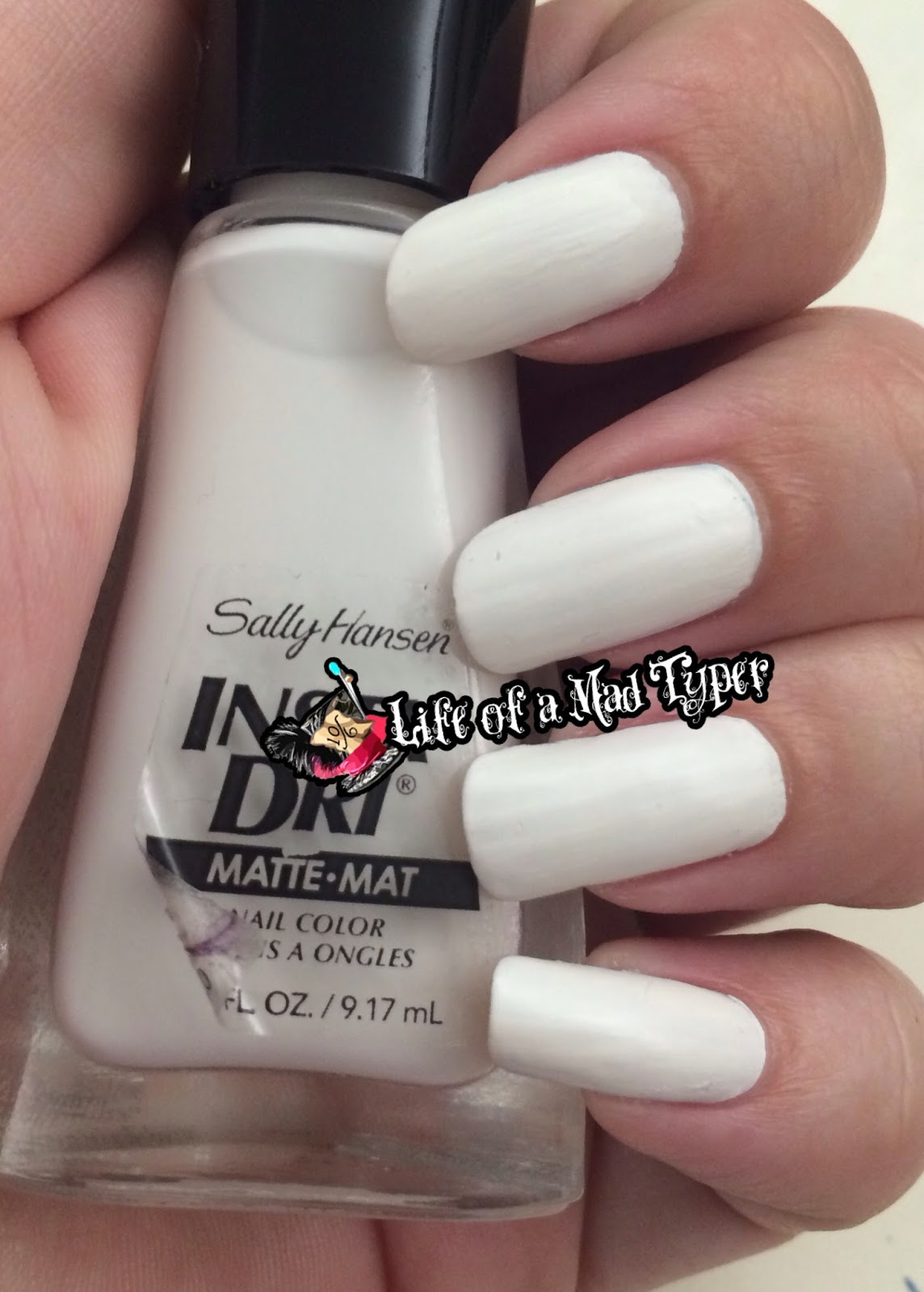 Sally Hansen Insta-Dri white pick it fence