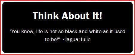 jaguarjulie think about it