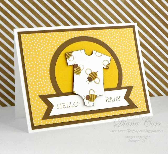 Stampin' Up! Baby Card - Crazy About You Stamp Set, Baby's First Framelits