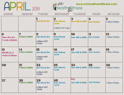 April class schedule