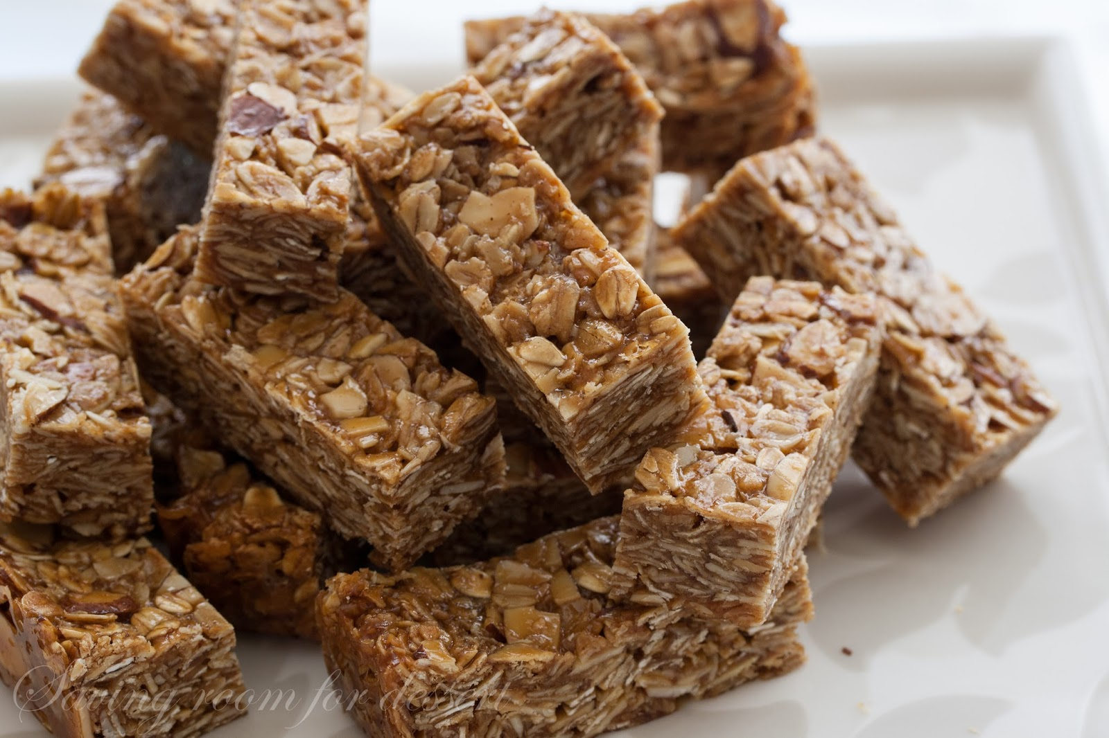 thick and chewy biscoff almond granola bars - Saving Room ...