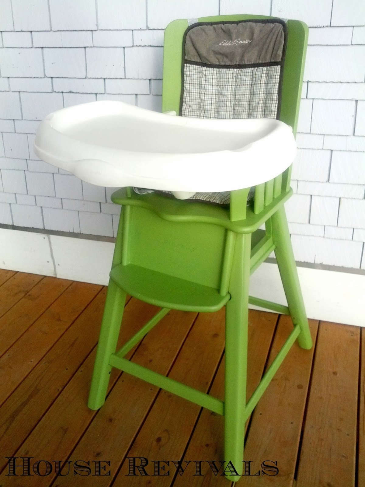 Painted wood high chair - Painted Wooden High Chair High Chair Makeover