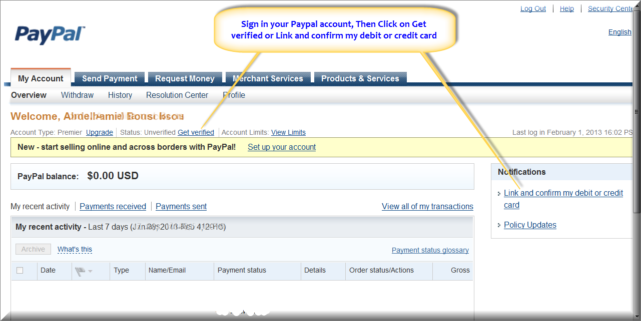 Creating A Paypal Account First Click On The Link To Get Verified In Get  Verified You Google Play Music How To Make A Free Virtual Credit Card