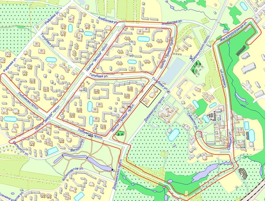 Карта маршрутов ГАИ 2011