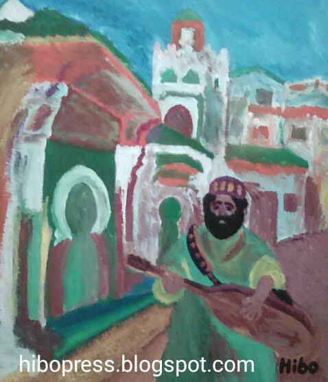 painting : In Tangier for sale/ لوحة سوق الداخل في طنجة للبيع