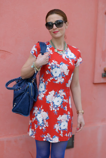 Flower mini dress, Balenciaga bag, Fashion and Cookies