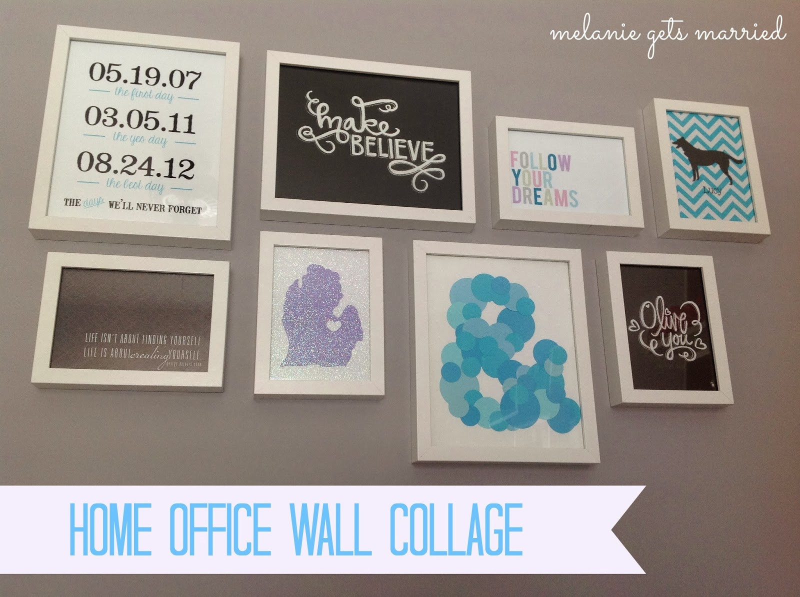 Home Office Wall Collage