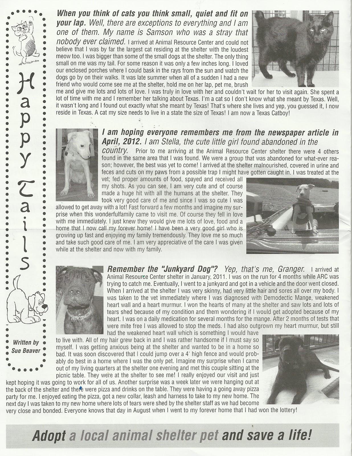 Animal Resource Center News: November 2012