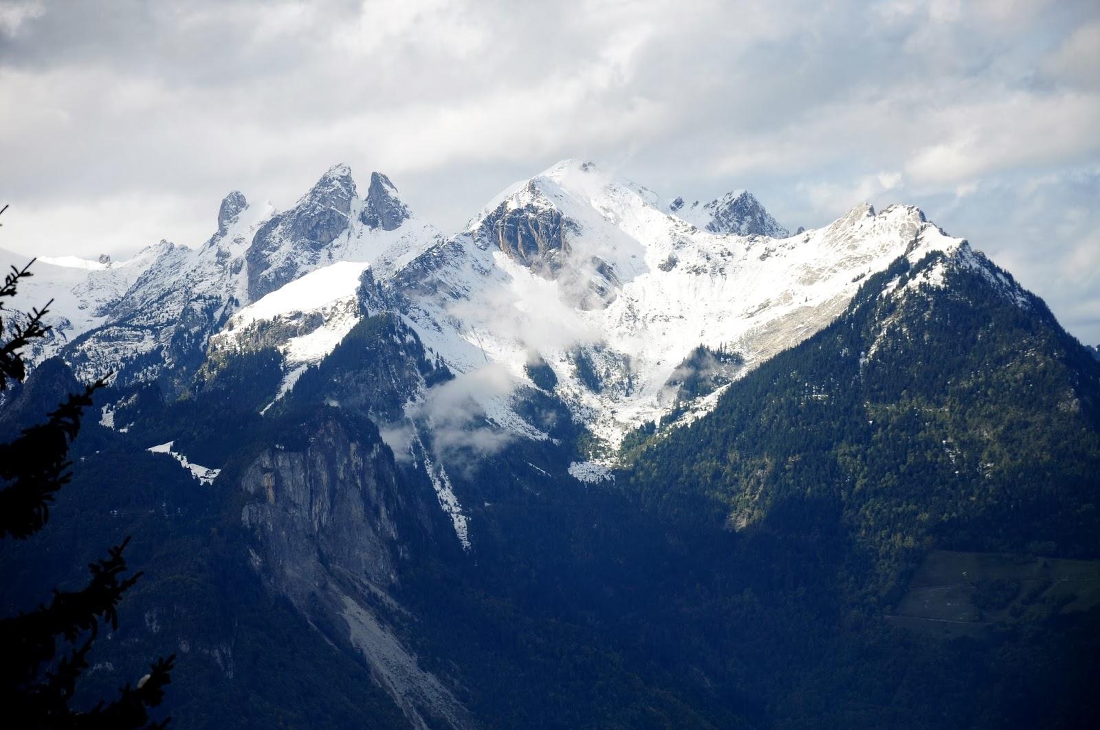 La Grande Crevasse views hiking Rhone Valley Switzerland