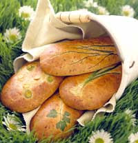 Leek and Chive Bread
