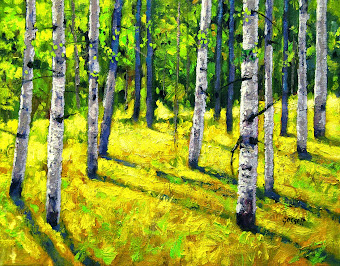 Spring Aspens - click image to see on eBay