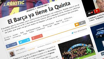 Reacciones de los medios electrónicos sobre el triplete del Barcelona al ganar la UEFA Champions League 2015 | Ximinia