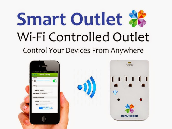 Smartphone Controlled Outlet 15 smart and innovative power outlets.