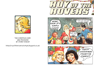Roy of the Rovers Christmas Card