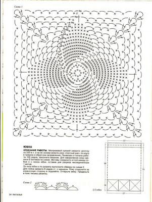 Туника из шестиугольников для дам королевского размера. Вязание крючком