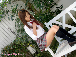 Mizuho Shiraishi Japanese Sexy Model Sexy Janpan Student Uniform From BEJEAN ON LINE 2