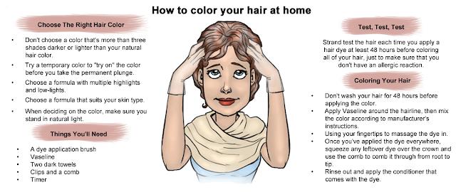 घर पर बालों को रंगने का तरीका