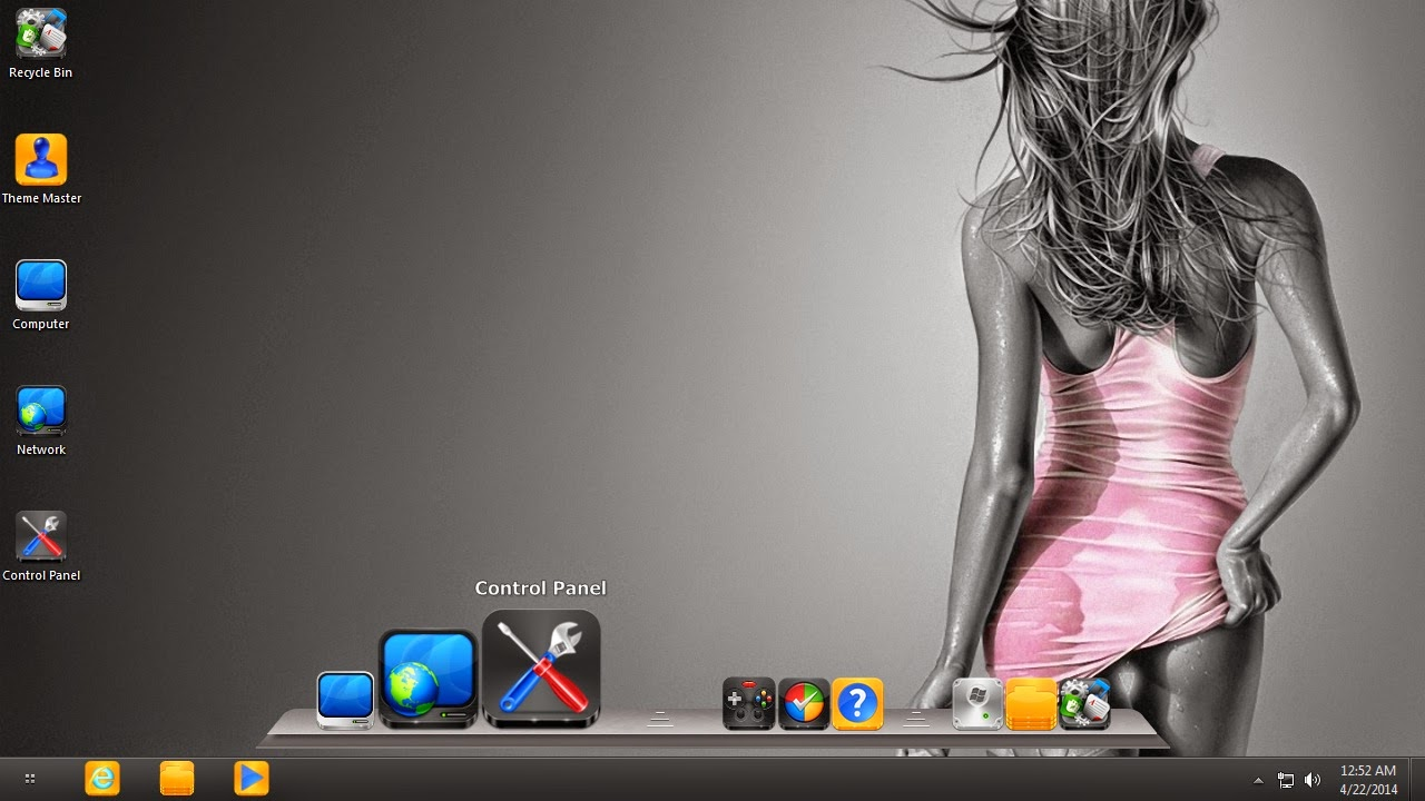 Sexy Girls i Icon theme for Windows 7/8/8.1