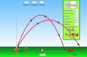 Simulasi Interaktif Fisika: Gerak Peluru