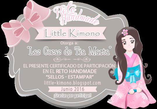 Certificado de participación reto Handmade Little Kimono: sellos-estampar 15 de junio.