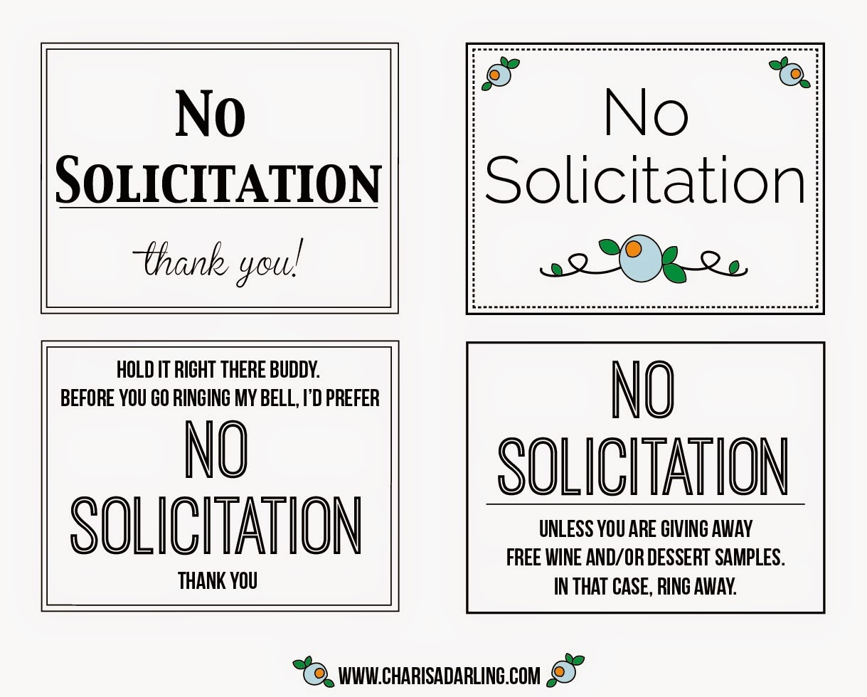 It is an image of Rare Free Printable No Soliciting Sign