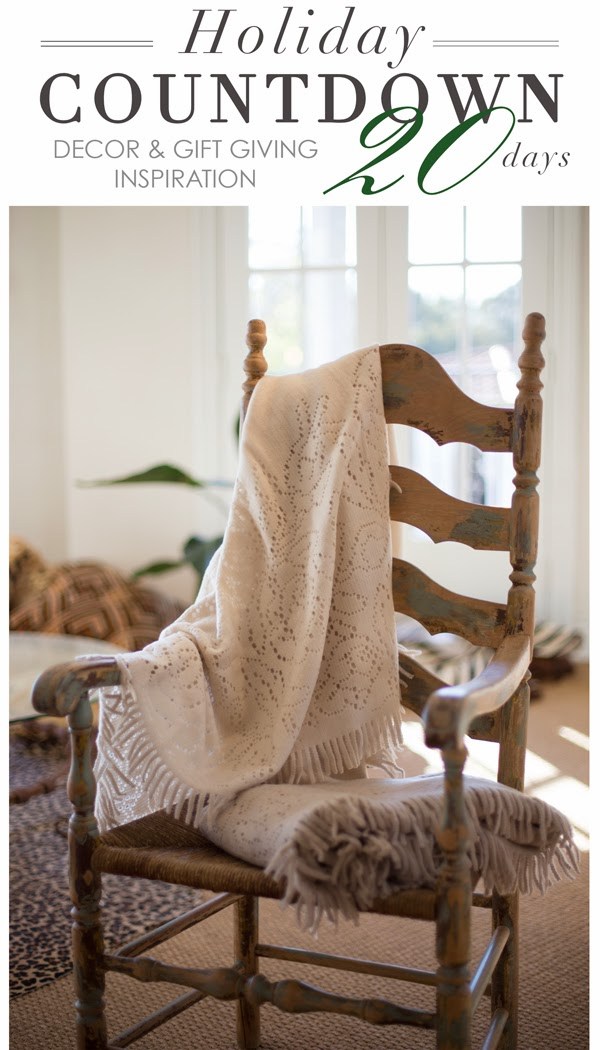 Maison K Holiday Countdown Decor and Gift Giving Inspiration Santa Barbara CA Portuguese Pointelle Throw