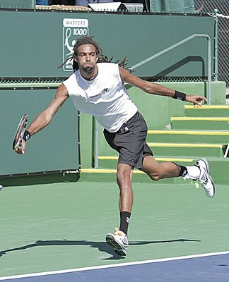 Black Tennis Pro's Dustin Brown vs Phillip Petzschner 2011 BNP Paribas Open