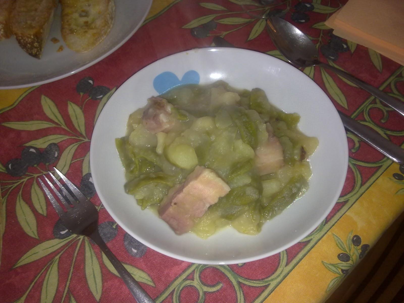 Bacon amb mongeta patata i peres 14feb2012 ngel i - Tiempo de coccion de judias verdes ...
