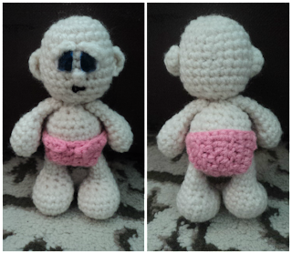 Little Bigfoot Baby with Pink Diaper