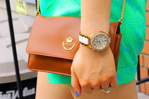 Ralph Lauren Leather Handbag and Michael Kors Watch
