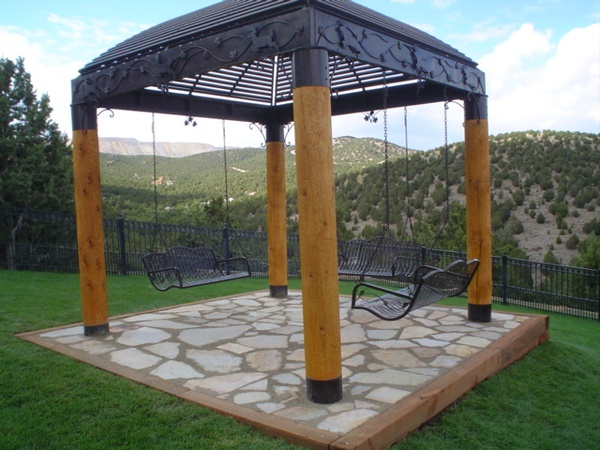 Patio Gazebo With Metal