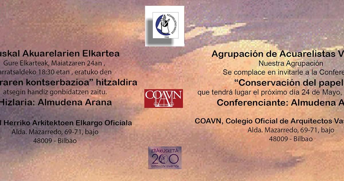 Conferencia conservaci n del papel - Colegio arquitectos bilbao ...