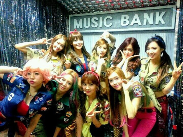 SNSD Backstage Music Bank