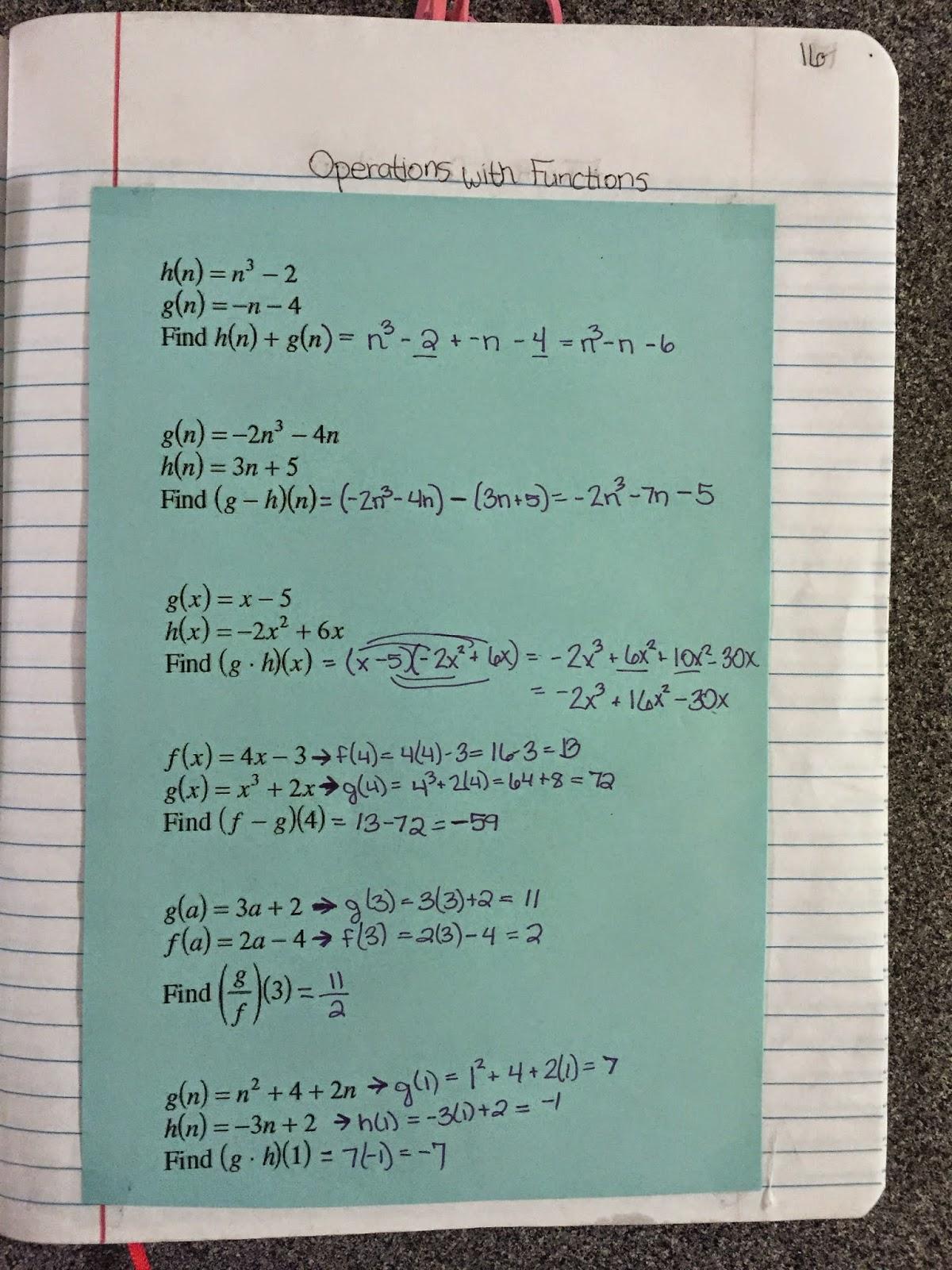 misscalcul8 algebra 2 unit 1 characteristics of functions interactive notebook. Black Bedroom Furniture Sets. Home Design Ideas