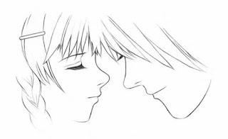 liebespaar gezeichnet
