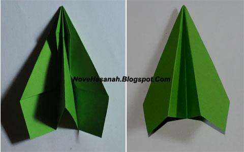 cara membuat origami yang mudah untuk anak TK, SD, dan pemula berbentuk pesawat model 1