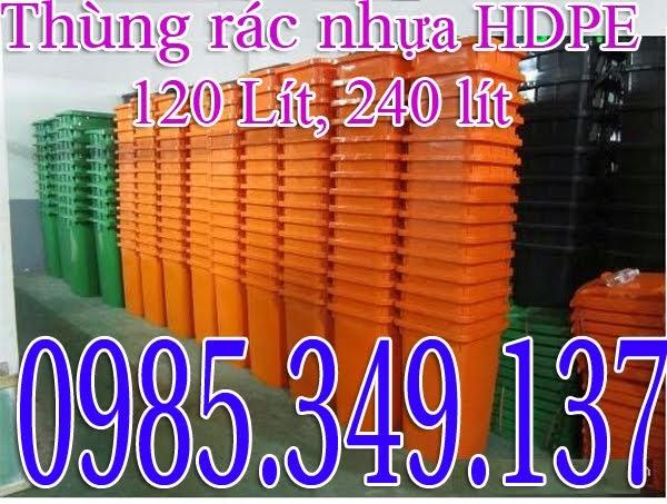 Thùng rác nhựa 120L, 240L