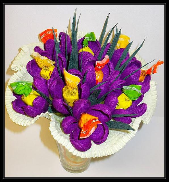 bukiet z cukierków kwiatów bukiety