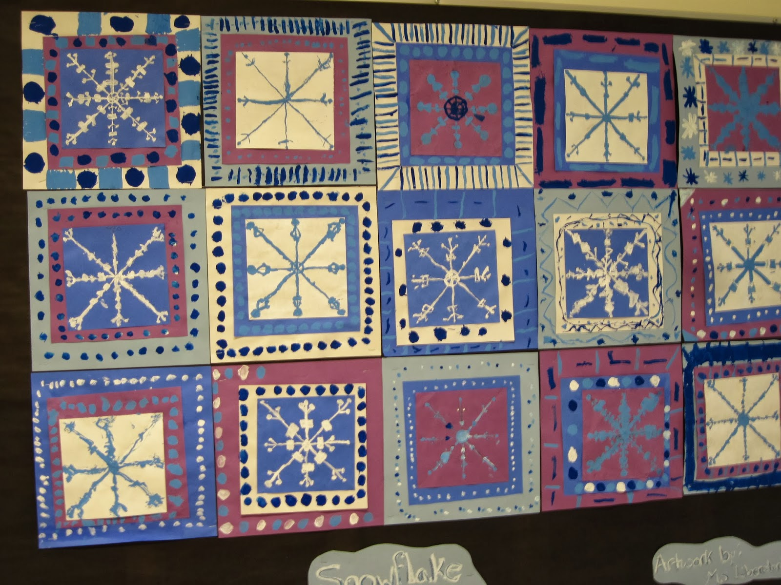 lines dots and doodles snowflake quilt 4th grade