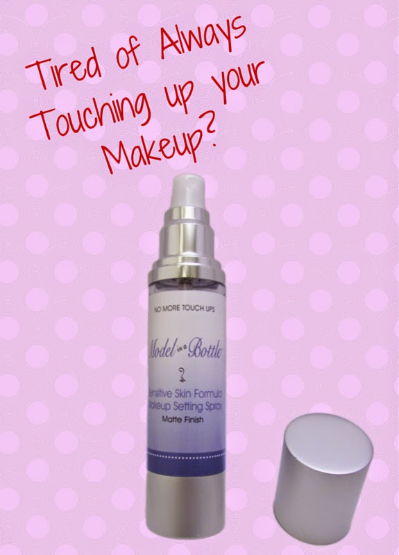 Model In A Bottle Makeup Setting Spray for Sensitive Skin includes Essential Oils of Lavender and Aloe Vera