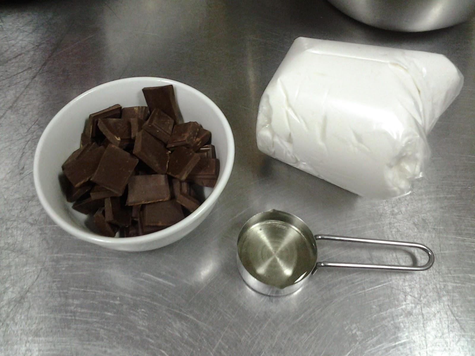 Baño Sencillo Para Tortas: tortas ,cupcakes y más dulces : Fondant de chocolate para forrar