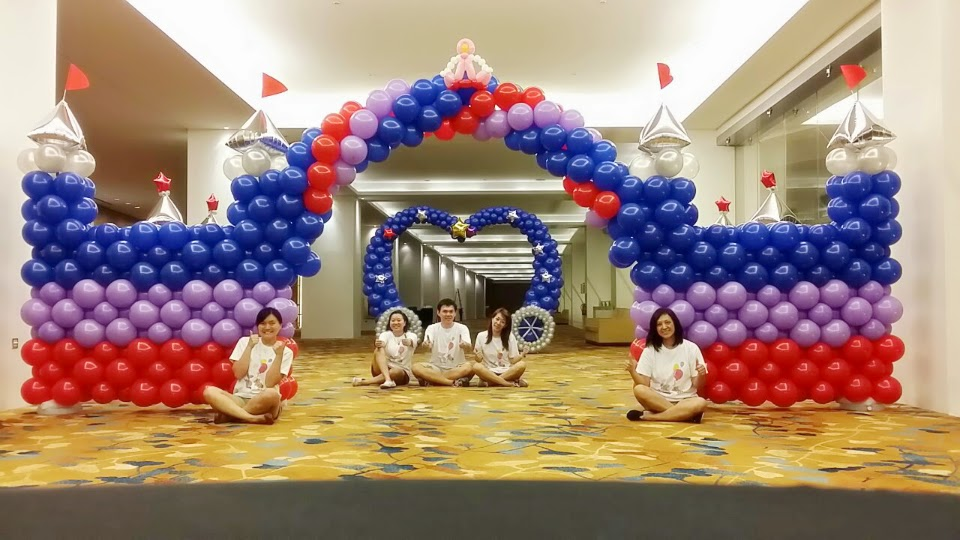 Balloon castle and carriage for new creation church ncc singapore