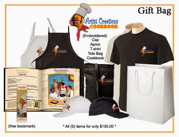 Cookbook Products and Gif Bag