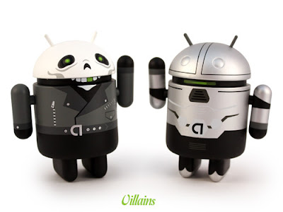San Diego Comic-Con 2011 Exclusive Heroes & Villains Android Vinyl Figures by Andrew Bell - Villains Greentooth & Cycle-On